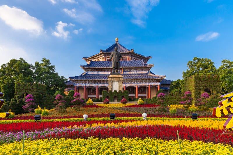 Зала Сунь Ятсен мемориальная, Гуанчжоу стоковое изображение
