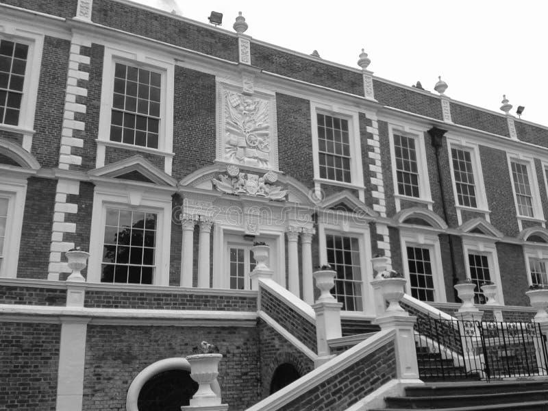 Зала Croxteth (черно-белая) стоковое изображение