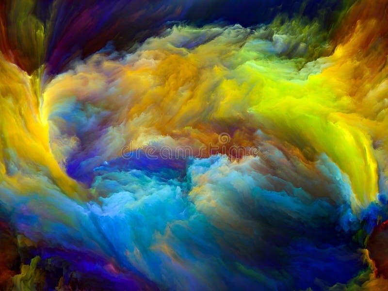 За движением цвета бесплатная иллюстрация