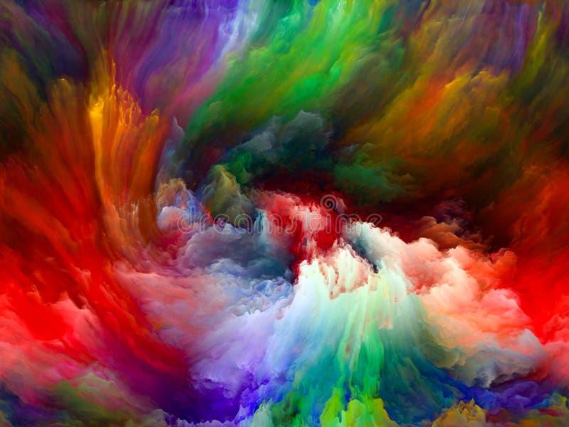 За движением цвета иллюстрация вектора