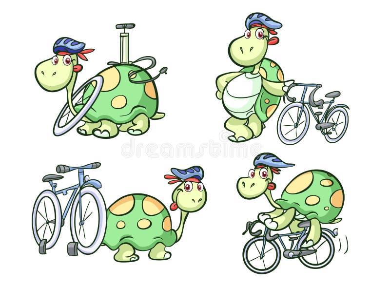 Задействуя черепаха иллюстрация вектора
