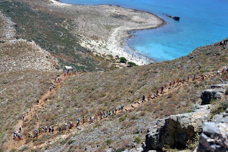 Залив Греция Balos стоковое изображение rf