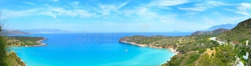 Залив Крит Mirabello, Греция стоковые изображения rf