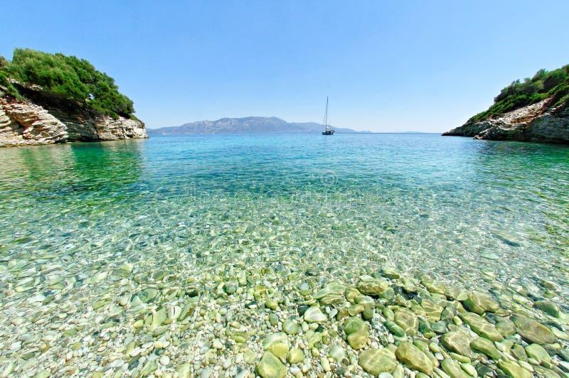 Залив на острове Kastos стоковое изображение