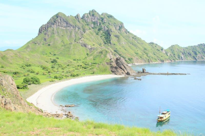 Залив на острове Padar стоковая фотография