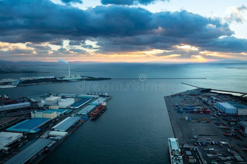 Залив Осака стоковое изображение