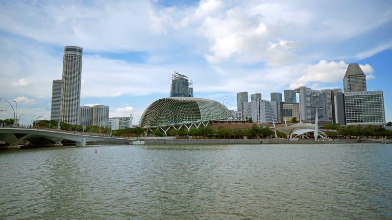 Залив эспланады и Марины, Сингапур стоковое фото