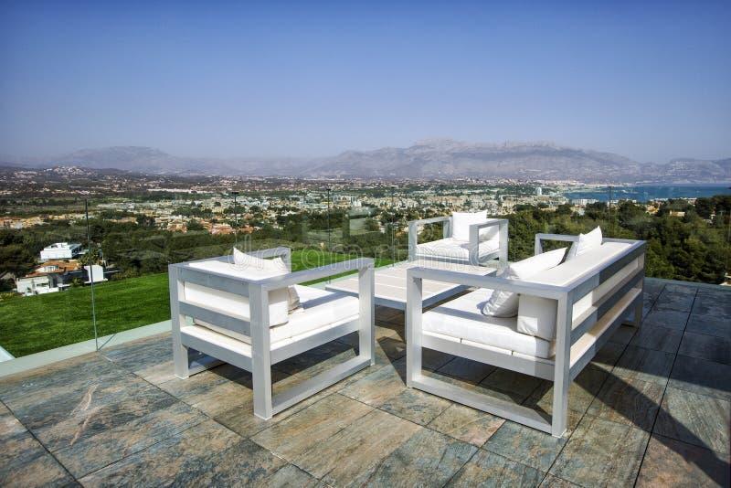 Залив Altea, Blanca Косты Испания, Аликанте заречье moscow один панорамный взгляд стоковые фото