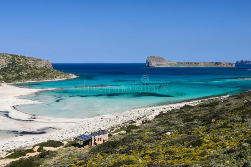 Залив Balos в западном Крите, Греции стоковые фотографии rf