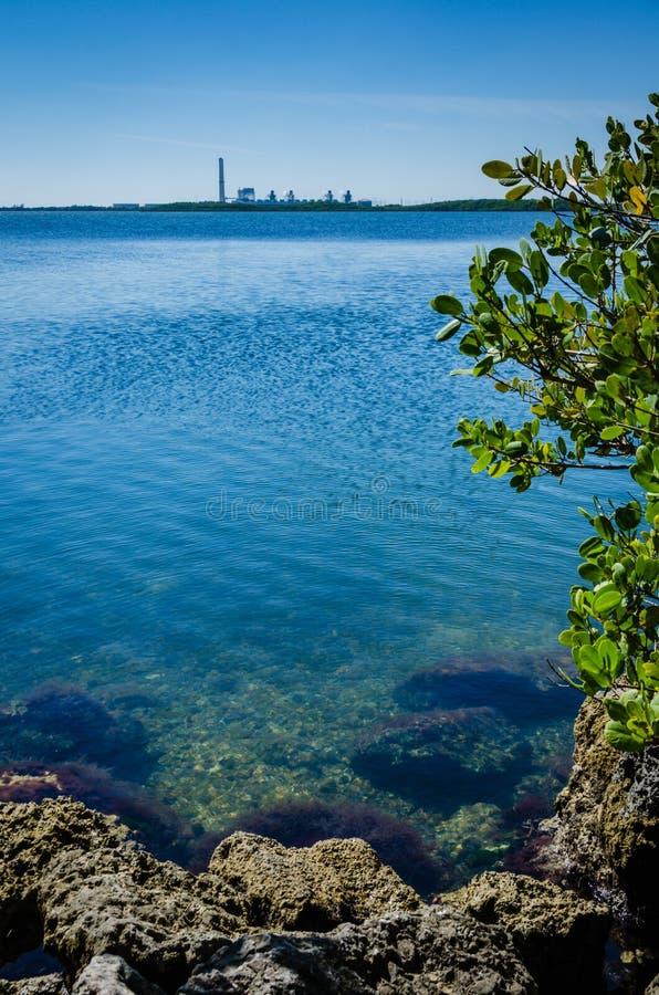 Залив Biscayne - национальный парк Biscayne - Флорида стоковое изображение rf