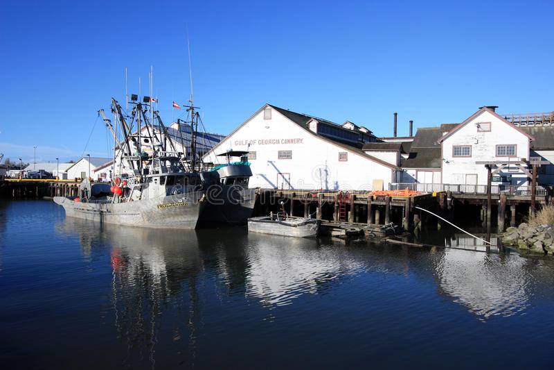 Залив Cannery Georgia национальное историческое место Канады стоковая фотография