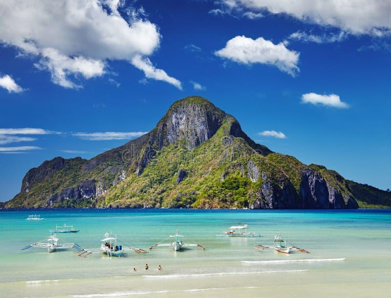 Залив El Nido, Филиппины стоковое изображение