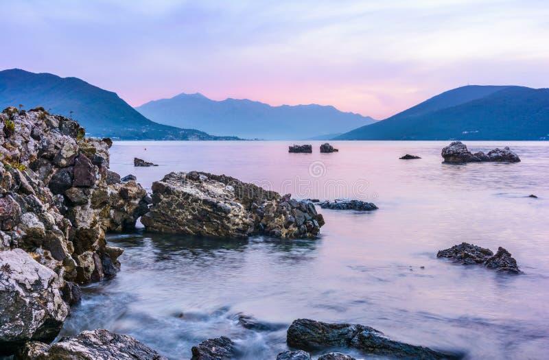 Залив Kotor стоковые изображения rf