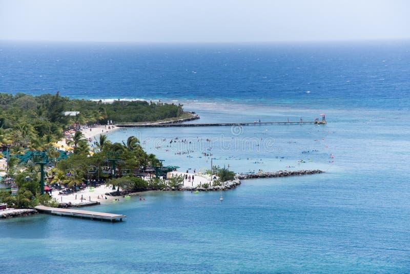 Залив Mahogany, Roatan, Гондурас стоковые изображения rf