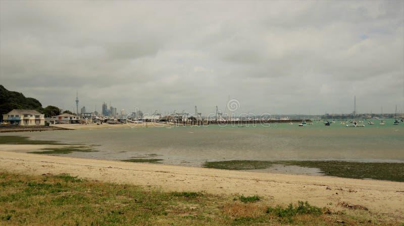 Залив Okahu стоковые изображения rf