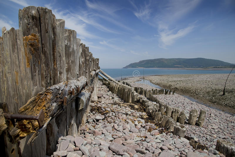 Залив Porlock, Англия стоковые изображения rf