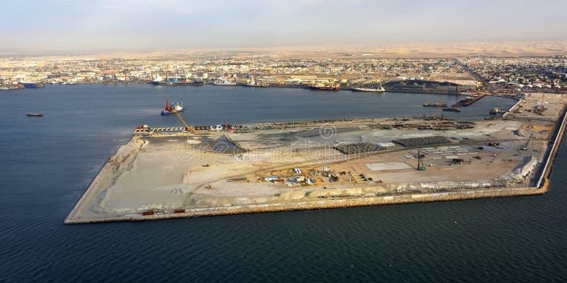 Залив Walvis порта груза стоковое изображение
