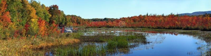 Залив Warner, озеро Джордж, NY, парк штата Adirondack, в осени стоковое фото rf