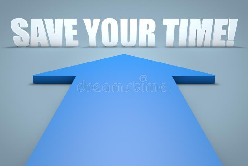 За исключением вашего времени иллюстрация вектора