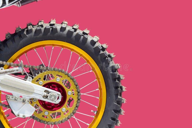 Заднее колесо motocross стоковые фото