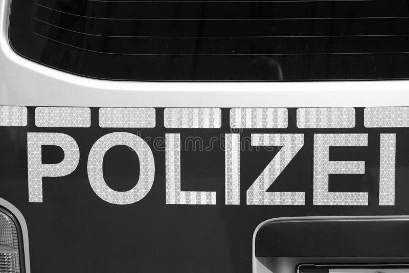 задние полиции автомобиля стоковые фотографии rf