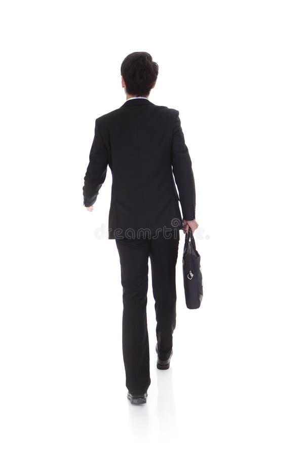 Задний взгляд идти бизнесмена стоковые изображения rf