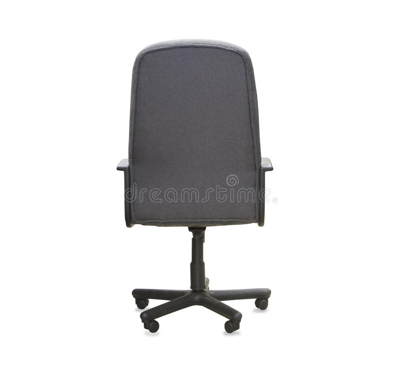 Задний взгляд современного стула офиса от серой ткани стоковые фото