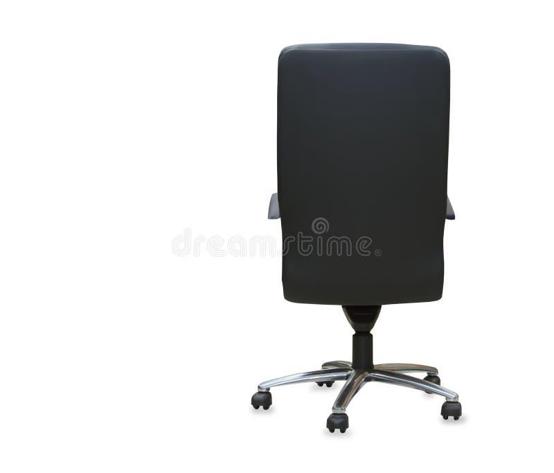 Задний взгляд современного стула офиса от черной кожи стоковая фотография rf