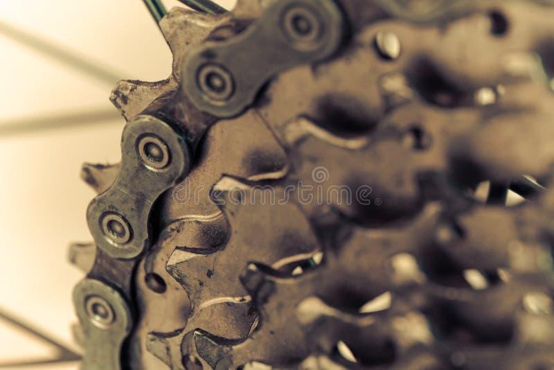 Задний горный велосипед в ретро стоковое фото