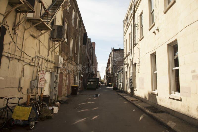 Задний переулок стоковое фото