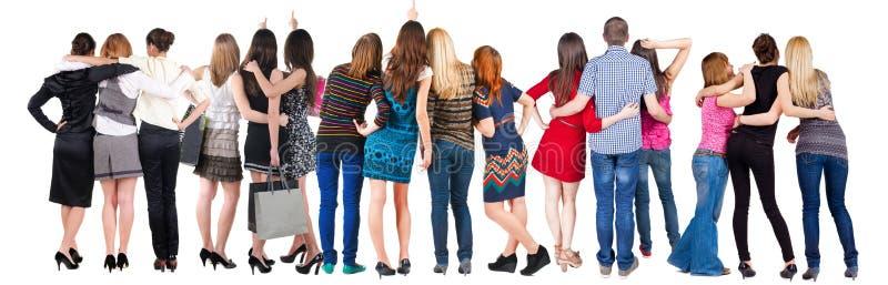 Задний смотреть группы людей взгляда. стоковая фотография rf