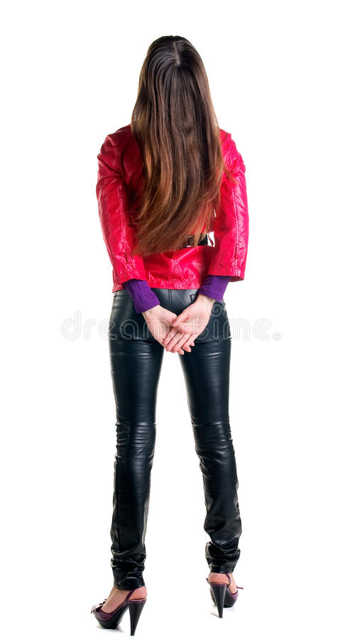 Задний смотреть молодой женщины взгляда стоковая фотография rf