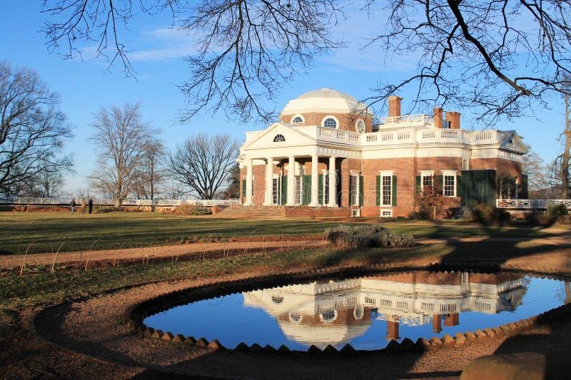 Задняя часть и ландшафт Monticello стоковое изображение