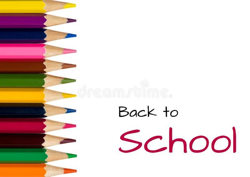 задняя школа карандашей к стоковые фото