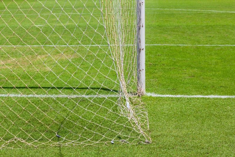 За целью футбола (футбола) стоковые фото