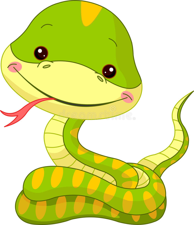 звеец змейки потехи иллюстрация вектора