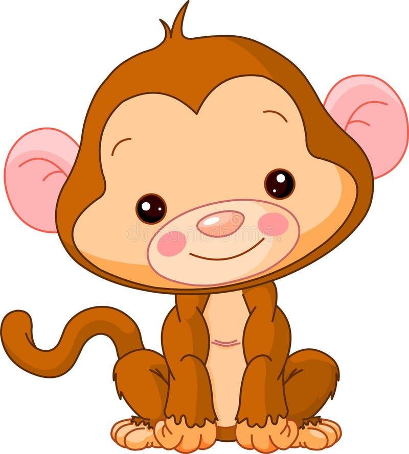 звеец обезьяны потехи иллюстрация вектора