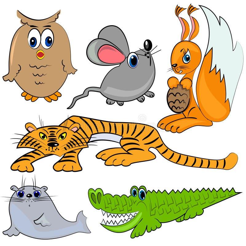 звеец mammal шаржа животных иллюстрация штока
