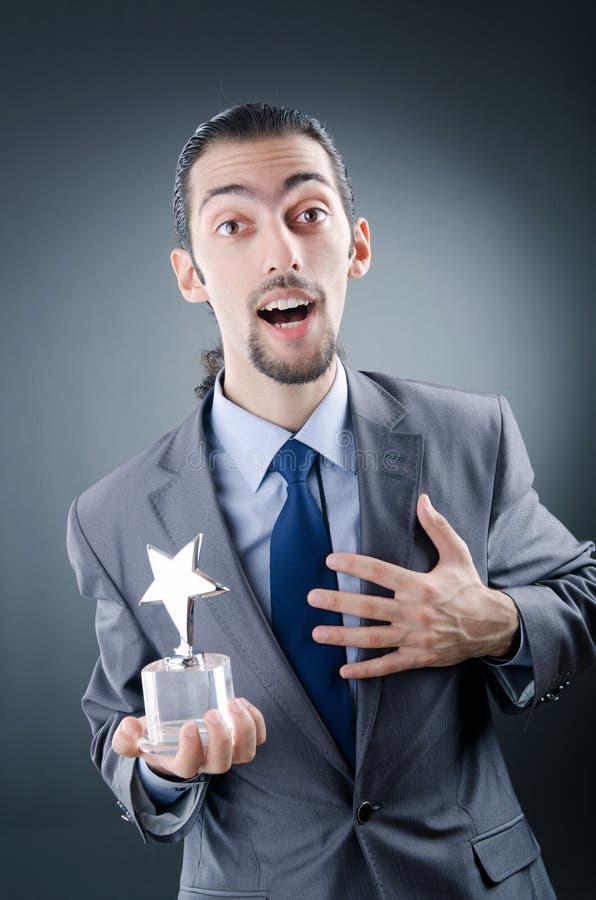 звезда бизнесмена пожалования стоковая фотография