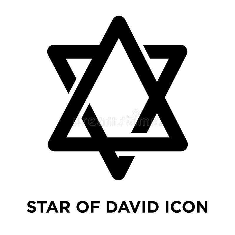 Звезда вектора значка Дэвида изолированная на белой предпосылке, жулике логотипа бесплатная иллюстрация