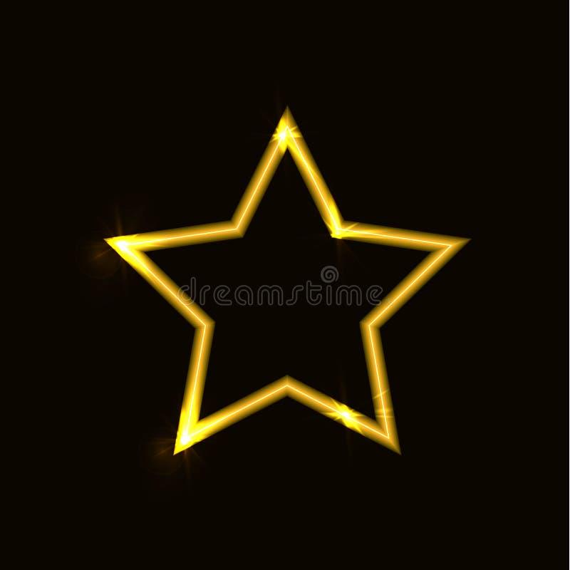 Звезда вектора сияющая, накаляя на значке предпосылки ярком иллюстрация вектора