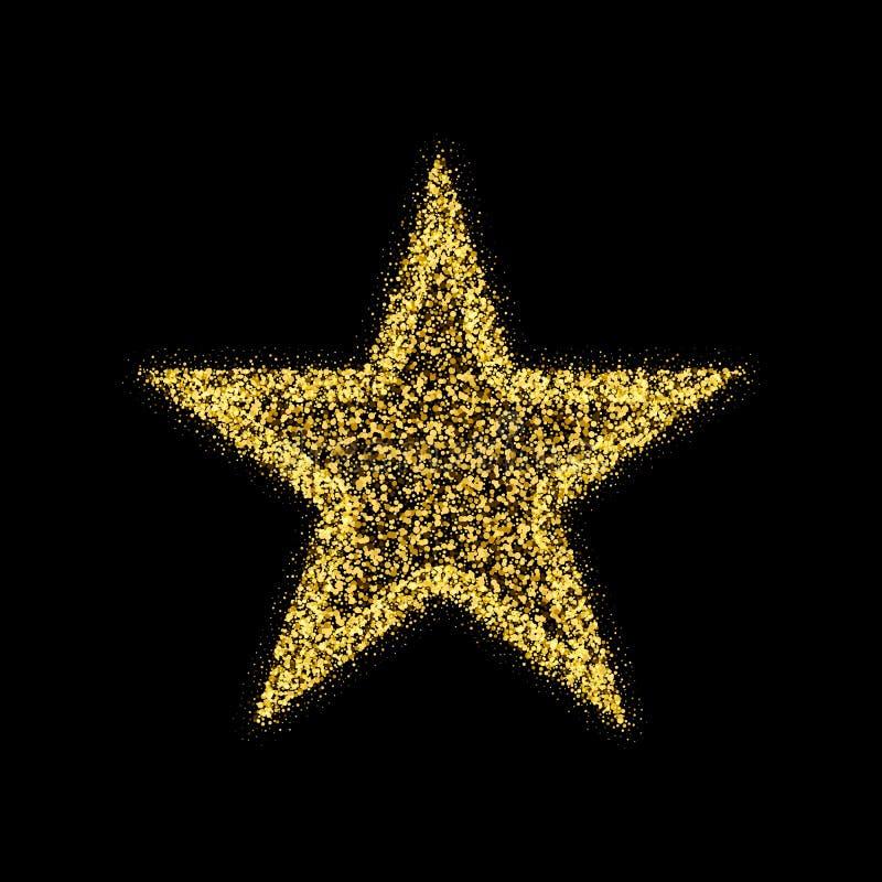 Звезда вектора яркого блеска золота Элемент дизайна золотой искры роскошный Янтарные частицы бесплатная иллюстрация