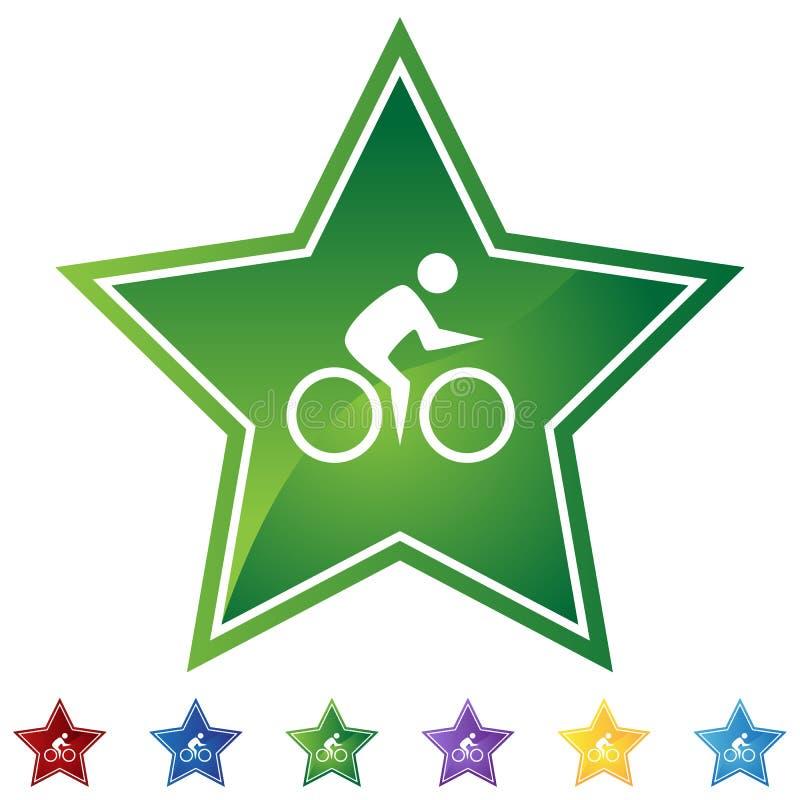 звезда велосипеда установленная иллюстрация штока