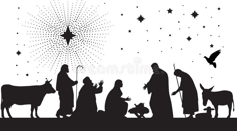 звезда Вифлеема иллюстрация штока