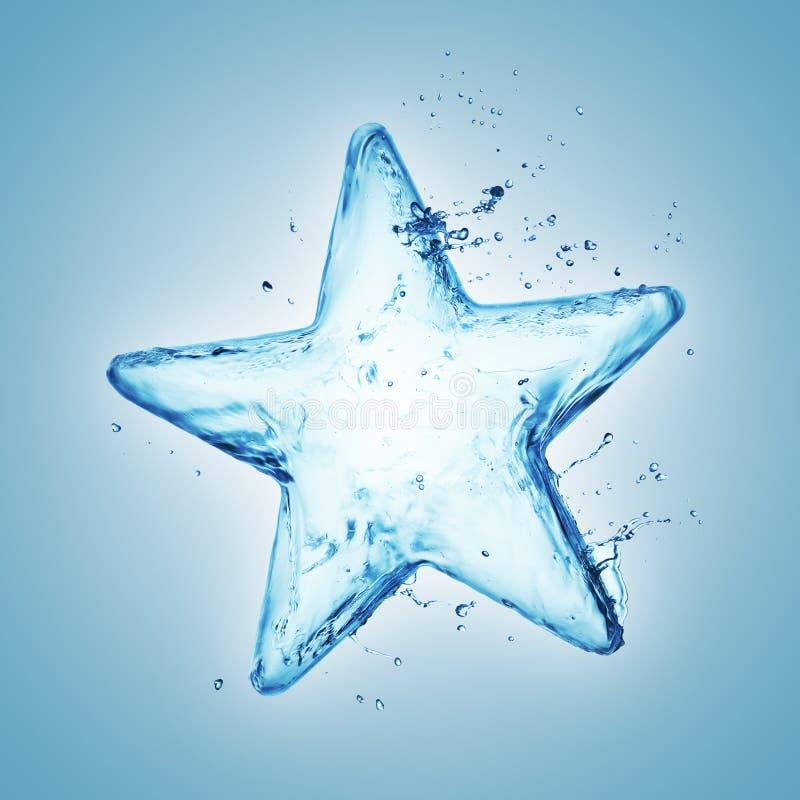 Звезда выплеска воды стоковое фото