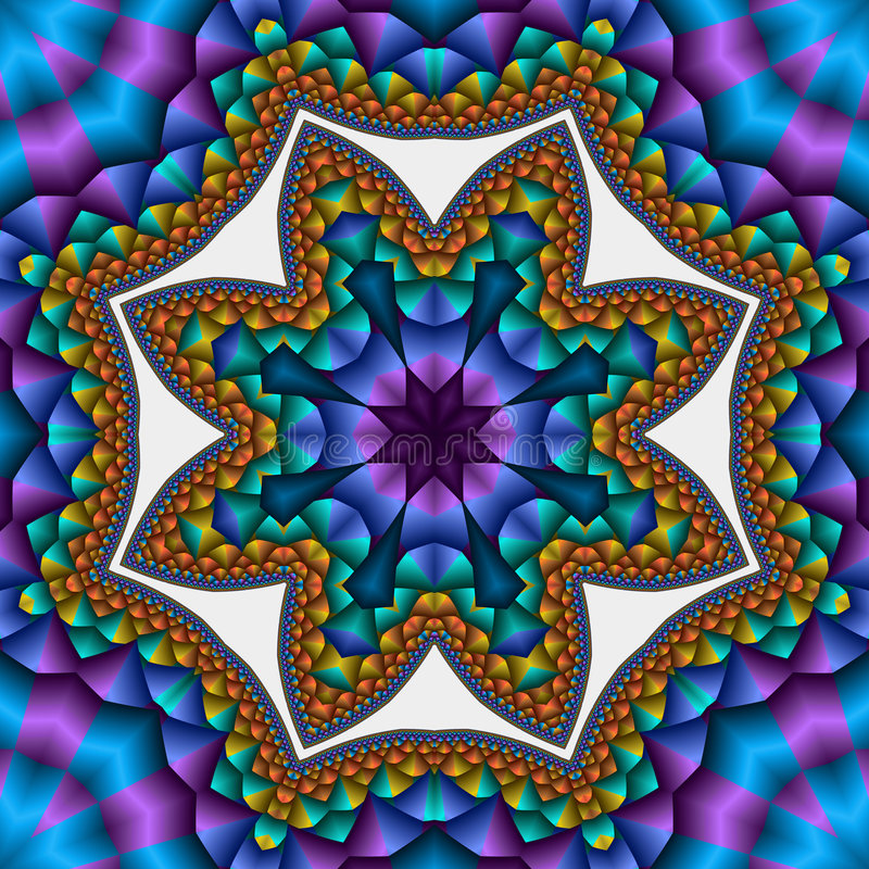 звезда выстеганная компасом бесплатная иллюстрация