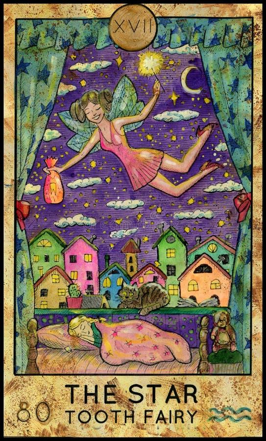 звезда вычерченный fairy зуб иллюстрации руки иллюстрация штока