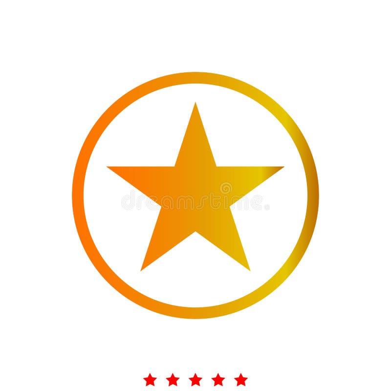 Звезда в круге значок бесплатная иллюстрация