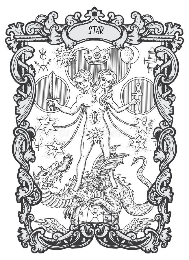 звезда Главная карточка Tarot Arcana иллюстрация штока