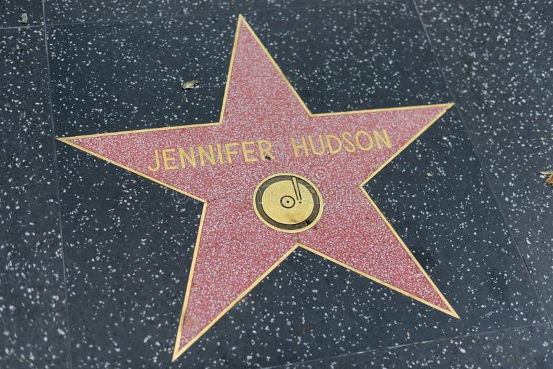 Звезда Дженнифера Гудзона на прогулке Голливуда славы стоковые фото